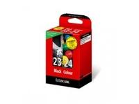 Lexmark Combo Pack #23 + #24 - 2er-Pack - Schwarz, Farbe (Cyan, Magenta, Gelb) - Original - Tintenpatrone LRP - für X3530, 3550, 4530, 4550; Z1410, 1420
