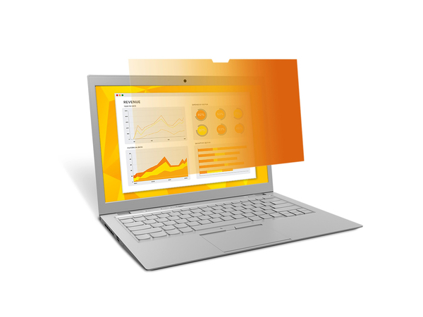 3M GOLD Privacy Filters GPF14.1W - Notebook-Privacy-Filter - 35,8 cm Breitbild (14,1 Zoll Breitbild) - Schwarz/Gold