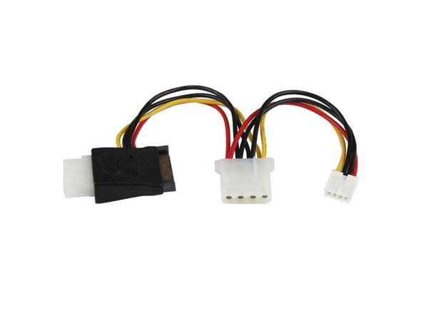 StarTech.com LP4 auf SATA Stromkabel mit Floppy-Stromanschluss - Netzteil - SATA Leistung (M) bis interne Stromversorgung, 4-polig, 4-Pin-Mini-Stromversorgungsstecker (W) - Schwarz - für P/N: