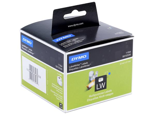 DYMO LabelWriter - Mehrzwecketiketten - weiß - 57 x 32 mm 1000 Etikett(en) ( 1 Rolle(n) x 1000 ) - für DYMO LabelWriter