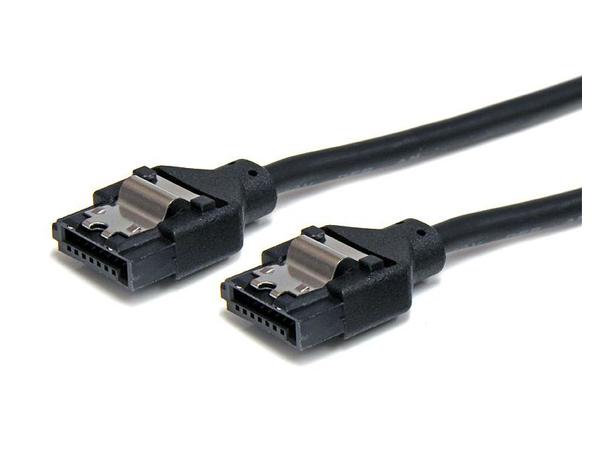StarTech.com 12in Latching Round SATA Cable - SATA-Kabel - Serial ATA 150/300/600 - SATA (R) bis SATA (R) - 30.5 cm - eingerastet, rund