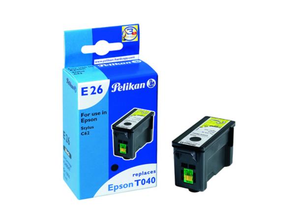 Pelikan E26 - 17 ml - Schwarz - Tintenbehälter (entspricht: Epson T040 ) - für Epson Stylus C62, CX3200