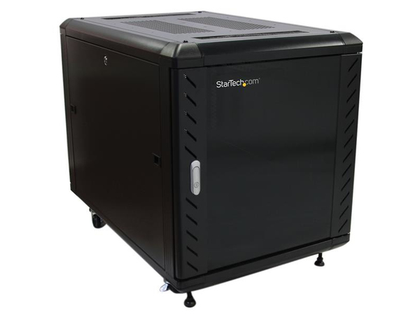 StarTech.com 12HE Office Serverschrank 91cm Tief - Server Rack Gehäuse bis max. 800 Kg belastbar - Schrank - Schwarz - 12U - 91.4 cm ( 36
