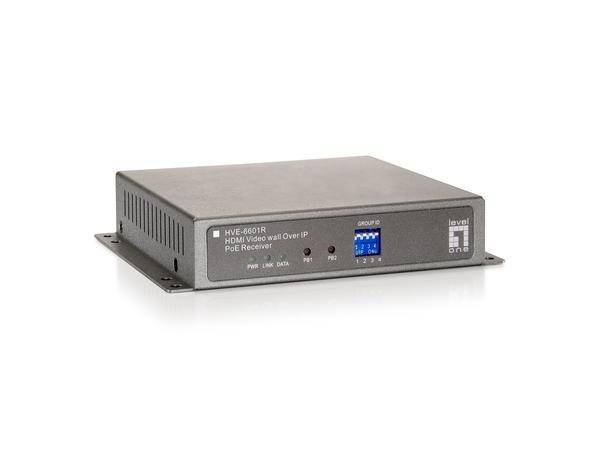LevelOne HVE-6601R HDMI Video Wall over IP PoE Receiver - Video Extender - Fast Ethernet, Gigabit Ethernet - 100Base-TX, 1000Base-T - für LevelOne GEP-2450