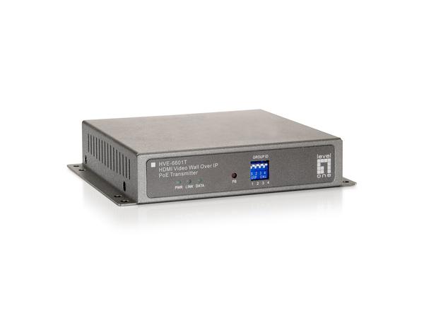 LevelOne HVE-6601T HDMI Video Wall Over IP PoE Transmitter - Video Extender - Fast Ethernet, Gigabit Ethernet - 100Base-TX, 1000Base-T - für LevelOne GEP-2450