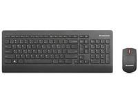 Lenovo Ultraslim Plus Wireless - Tastatur-und-Maus-Set - drahtlos - 2.4 GHz - Ungarisch - Schwarz