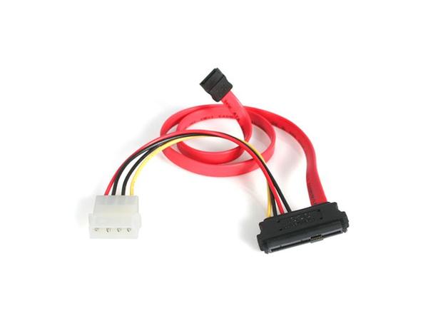 StarTech.com 18in SAS 29 Pin to SATA Cable with LP4 Power - SATA- / SAS-Kabel - interne Stromversorgung, 4-polig, interne SAS, 29-polig (SFF-8482) bis 7-poliges SATA (B) - 46 cm - Rot - für P/