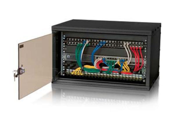 equip Flat Pack - Patch-Panel-Gehäuse - Schwarz, RAL 9005 - 9U - 48.3 cm (19