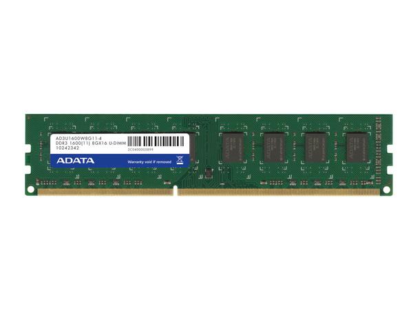 ADATA Premier Series - DDR3 - 8 GB - DIMM 240-PIN - 1600 MHz / PC3-12800 - CL11 - 1.5 V - ungepuffert - nicht-ECC