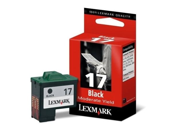 Lexmark Cartridge No. 17 - Schwarz - Original - Tintenpatrone - für i3; X11XX, 12XX, 22XX, 74, 75; Z13, 23, 24, 25, 33, 34, 35, 51X, 60X, 61X, 64X
