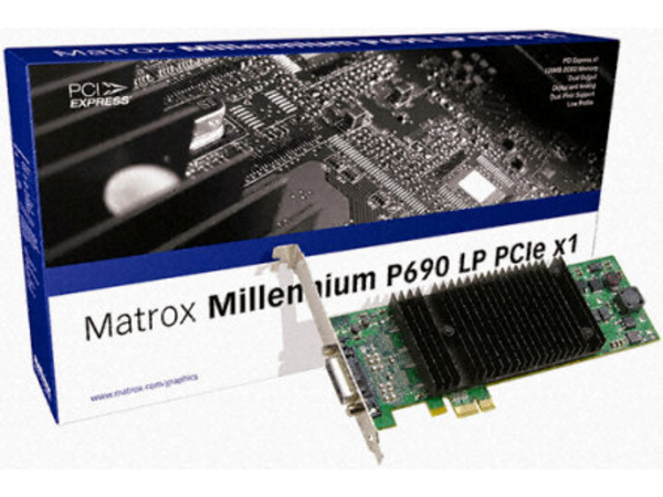 Matrox Millennium P690 LP PCIe x1 - Grafikkarten - MGA P690 - 128 MB DDR2 - PCIe Low Profile