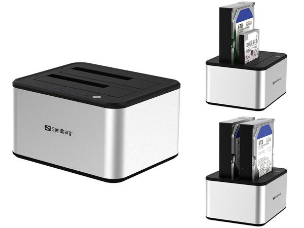 Sandberg USB 3.0 Hard Disk Cloner - Speicher-Controller - 6,4 cm/8,9 cm gemeinsam genutzt (2,5