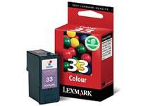 Lexmark Cartridge No. 33 - Farbe (Cyan, Magenta, Gelb) - Original - Tintenpatrone - für P315, 43XX, 450, 62XX, 6350, 91X; X33XX, 52XX, 54XX, 7170, 73XX, 83XX; Z81X, 845