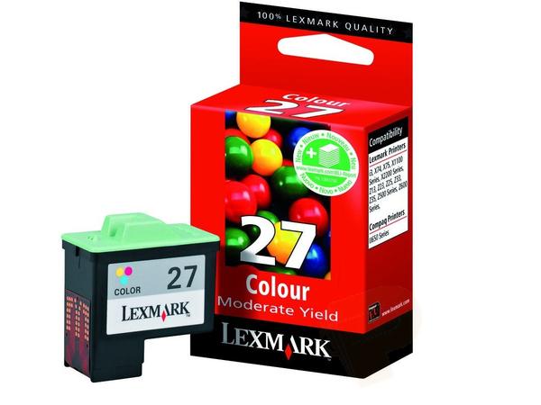 Lexmark Cartridge No. 27 - Farbe (Cyan, Magenta, Gelb) - Original - Tintenpatrone - für i3; X11XX, 12XX, 22XX, 74, 75; Z13, 23, 24, 25, 33, 34, 35, 51X, 60X, 61X, 64X