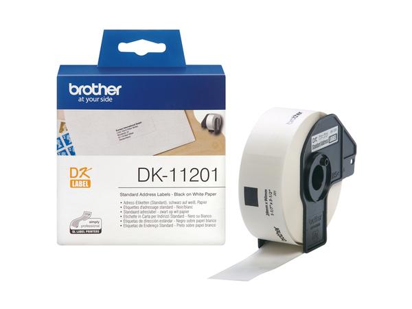 Brother DK-11201 - 29 x 90 mm 400 Etikett(en) (1 Rolle(n) x 400) Adressetiketten - für Brother QL-1050, QL-500, QL-550, QL-560, QL-650, QL-700, QL-710, QL-720