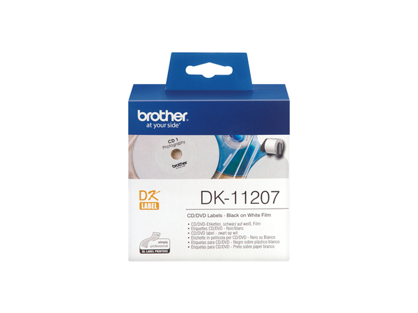Brother DK-11207 - 100) CD/DVD-Etiketten - für Brother QL-1050, QL-500, QL-550, QL-560, QL-650, QL-700, QL-710, QL-720