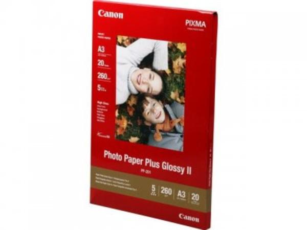 Canon Photo Paper Plus Glossy II PP-201 - Glänzend - A3 (297 x 420 mm) 20 Blatt Fotopapier - für PIXMA iX4000, iX5000, iX7000, PRO-1, PRO-10, PRO-100, Pro9000, Pro9500