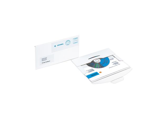 HERMA - CD-Aufbewahrungshülle - Kapazität: 1 CD - weiß (Packung mit 10 )