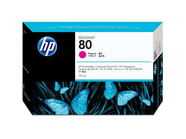 HP 80 - 175 ml - Magenta - Original - Tintenpatrone - für DesignJet 1050c, 1050c plus, 1055cm, 1055cm plus