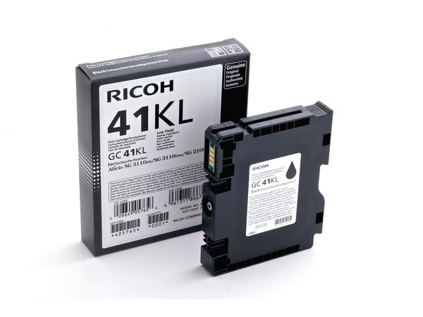 Ricoh GC 41KL - Low Yield - Schwarz - Original - Tintenpatrone - für Nashuatec SG 2100; NRG SG 2100; Rex Rotary SG 2100; Ricoh Aficio SG 7100, SG 3120