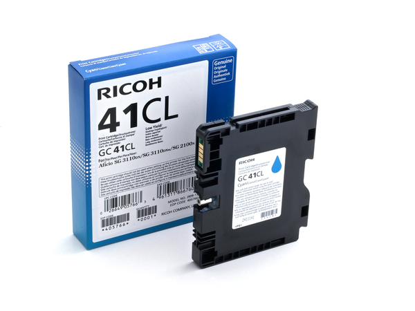 Ricoh GC 41CL - Low Yield - Cyan - Original - Tintenpatrone - für Nashuatec SG 2100; NRG SG 2100; Rex Rotary SG 2100; Ricoh Aficio SG 7100, SG 3120