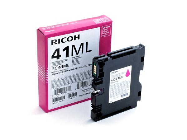 Ricoh GC 41ML - Low Yield - Magenta - Original - Tintenpatrone - für Ricoh Aficio SG 2100, Aficio SG 3100, Aficio SG 3110, Aficio SG 7100, SG 3120