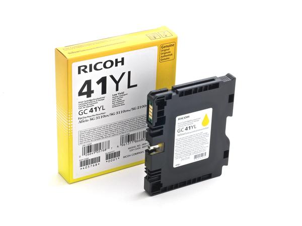 Ricoh GC 41YL - Low Yield - Gelb - Original - Tintenpatrone - für Ricoh Aficio SG 2100, Aficio SG 3100, Aficio SG 3110, Aficio SG 7100, SG 3120