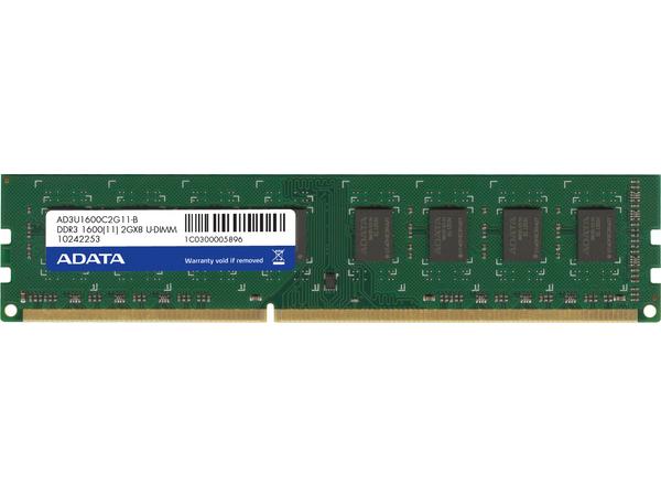 ADATA Premier Series - DDR3 - 2 GB - DIMM 240-PIN - 1600 MHz / PC3-12800 - CL11 - 1.5 V - ungepuffert - nicht-ECC