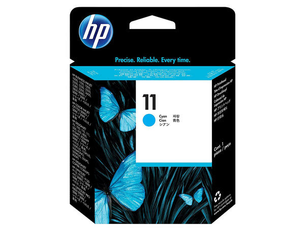 HP 11 - Cyan - Druckkopf - für Business Inkjet 1000, 1200, 2800; DesignJet 11X, 500, 510, 70, 820; Officejet Pro K850