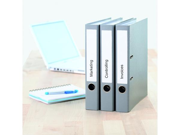 HERMA Ordneretiketten A4 192x38 mm weiß Papier matt blickdicht 175 St., Weiß, Selbstklebendes Druckeretikett, A4, Papier, Laser/Inkjet, Dauerhaft