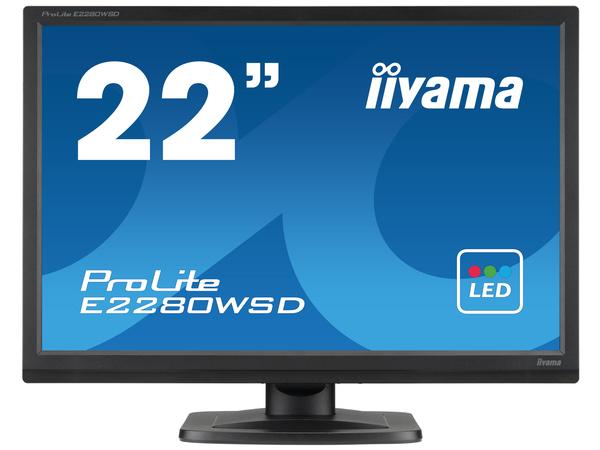 Iiyama ProLite E2280WSD-1 - LED-Monitor - 55.9 cm (22