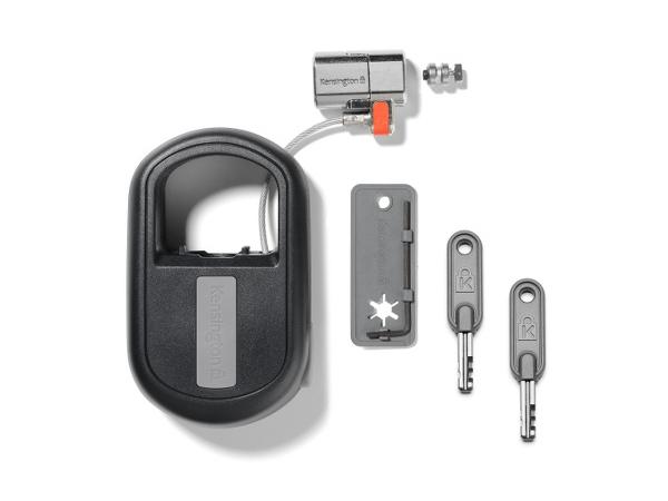 Kensington ClickSafe Keyed Retractable Laptop Lock - Sicherheitskabelschloss - Schwarz - 1.21 m