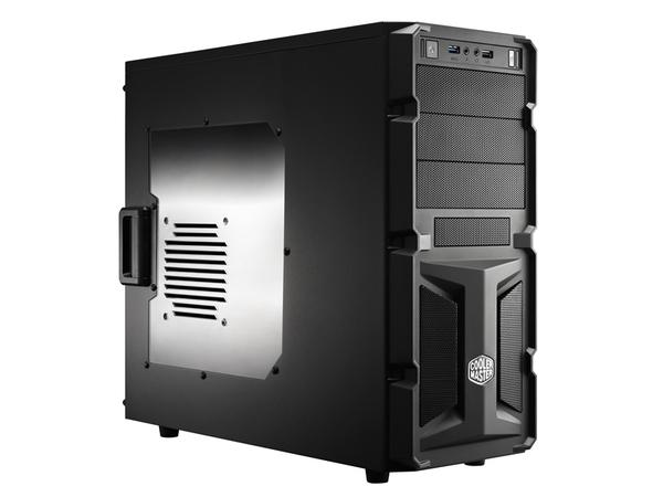 Cooler Master K350 - Midi Tower - ATX - ohne Netzteil ( ATX / PS/2 ) - Schwarz - USB/Audio
