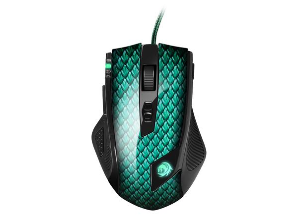 Sharkoon Drakonia - Maus - Laser - 11 Tasten - verkabelt - USB