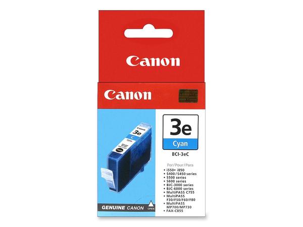 Canon BCI-3EC - Cyan - Original - Tintenbehälter - für BJ-S400, S520; BJC-400, 600; i450, 550; MultiPASS C755, MP390; S400; SmartBase MP730