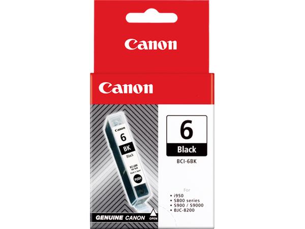 Canon BCI-6BK - Schwarz - Original - Tintenbehälter - für BJ-S800, S820, S900; i990, 99XX; PIXMA IP4000, iP5000, iP6000, iP8500, MP750, MP760, MP780