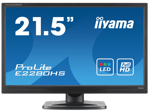 Iiyama ProLite E2280HS-1 - LED-Monitor - 54.6 cm (21.5