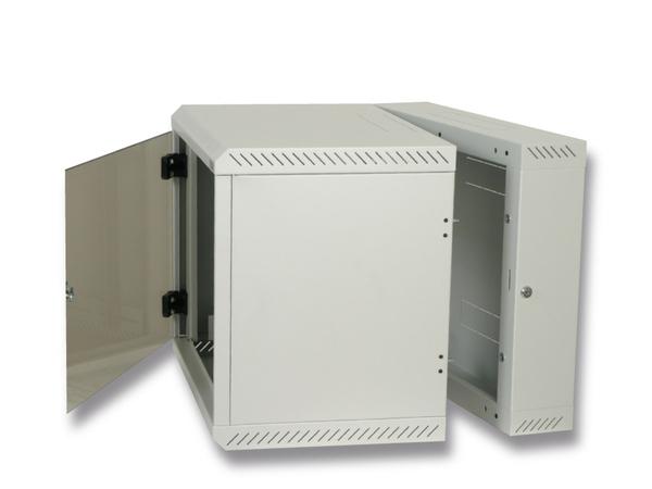 Triton Delta 4S - Mount cabinet - wall mountable - Hellgrau, RAL 7035 - 18U - 48.3 cm (19