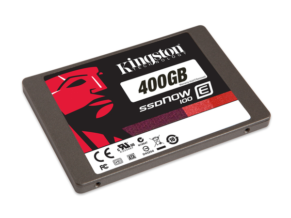 Kingston SSDNow E100 - Solid-State-Disk - verschlüsselt - 400 GB - intern - 6.4 cm (2.5