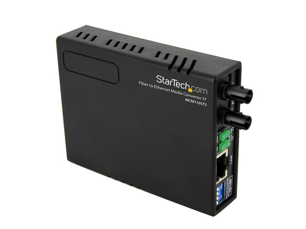 StarTech.com 10/100 Mbit/s Fast Ethernet Multimode ST LWL / Glasfaser Kupfer Medienkonverter - 2km - Medienkonverter - Fast Ethernet - 10Base-T, 100Base-FX, 100Base-TX - RJ-45 / ST multi-mode