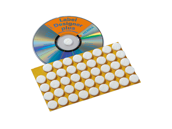HERMA - CD/DVD-Klebepunkte - Natural White (Packung mit 90 )