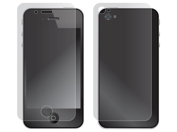 Sandberg Screen Protector - Bildschirmschutz-Kit - durchsichtig - für Apple iPhone 4, 4S
