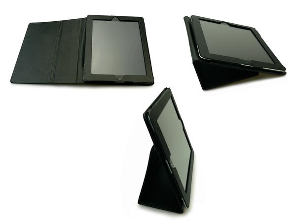 Sandberg Cover Stand - Tasche für Tablet - Leder - für Apple iPad (3. Generation); iPad 2