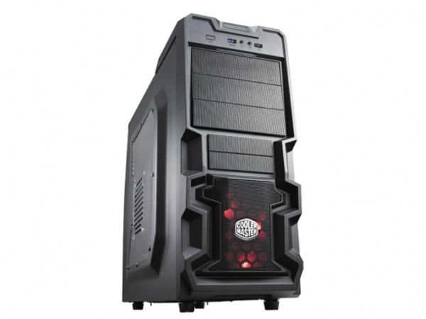 Cooler Master Elite K380 - Midi Tower - ATX - ohne Netzteil ( ATX / PS/2 ) - schwarz - USB/Audio