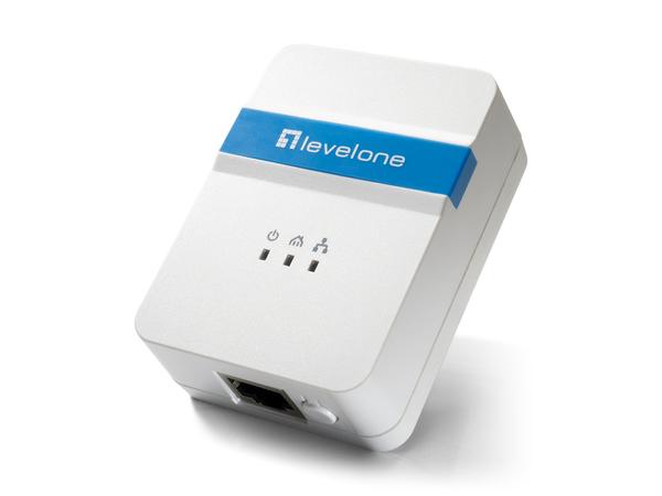 LevelOne PLI-4052 500Mbps Nano Powerline Adapter - Bridge - HomePlug AV (HPAV) - an Wandsteckdose anschließbar