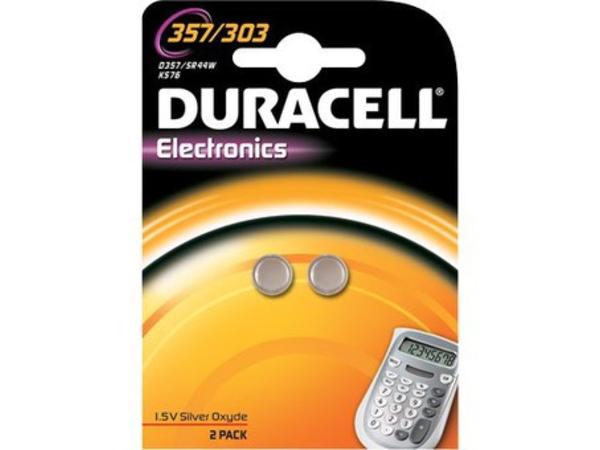 Duracell Electronics 357H - Batterie 2 x SR44 Silberoxid 190 mAh