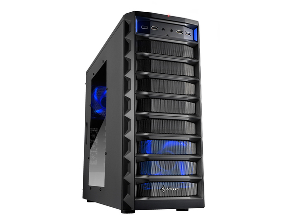 Sharkoon REX8 Value - Tower - ATX - Schwarz - USB/Audio