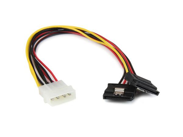 StarTech.com 12in 4 Pin Molex LP4 to 2x Latching SATA Power Y Cable Adapter - Netzteil - interne Stromversorgung, 4-polig (M) bis SATA Leistung (W) - 30 cm - eingerastet
