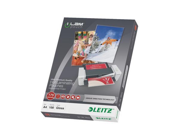 Leitz - 100 - glänzend, Crystal Clear - A4 (210 x 297 mm) Taschen für Laminierung
