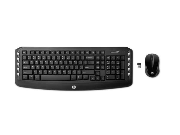 HP Wireless Classic Desktop - Tastatur-und-Maus-Set - drahtlos - 2.4 GHz - Deutsch - für HP; Envy; ENVY Phoenix; ENVY TouchSmart; Pavilion; Pavilion Gaming; Slimline; x2
